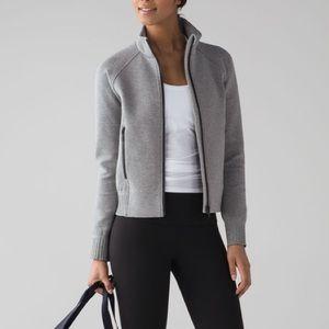 Lululemon NTS Jacket Heathered Grey EUC Sz 8
